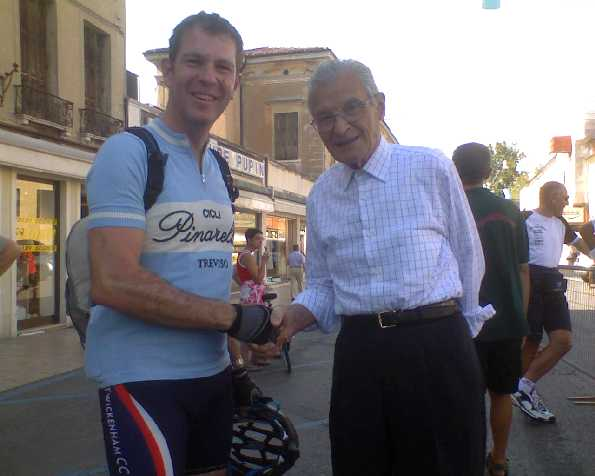 Jason Harris with Giovanni Pinarello