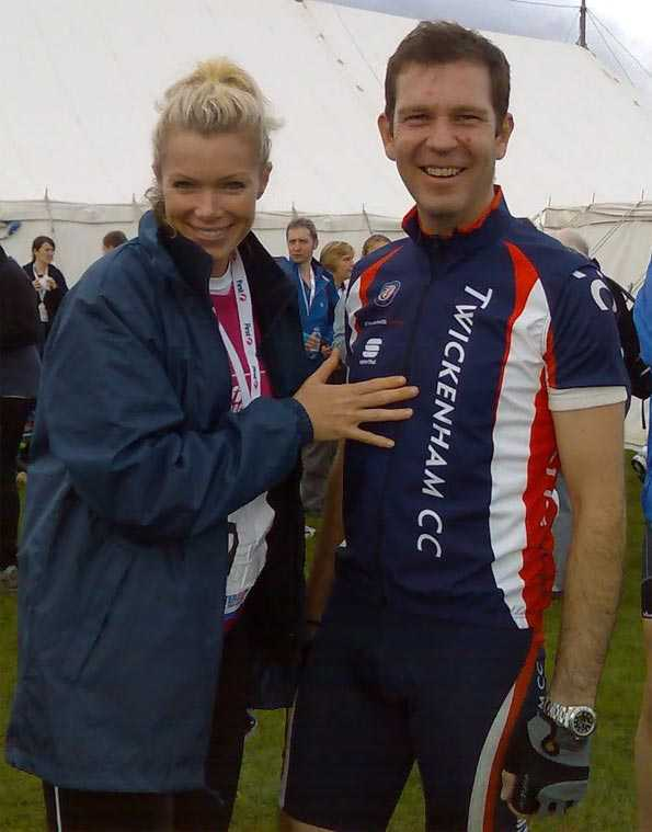 Jason Harris with Nell McAndrew (Guess which one Jason is....)