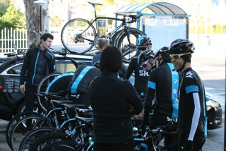 Setting off with Team Sky